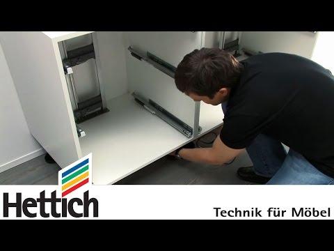 Easys von Hettich: Montage in Schubkastenschränken