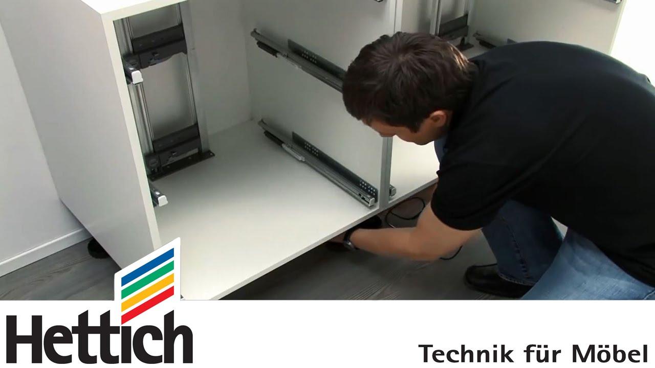Easys von Hettich: Montage in Schubkastenschränken - YouTube