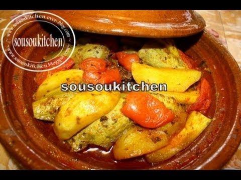 Tajine Viande Et Courge -Slaoui/Meat&Squash Tagine-Sousoukitchen