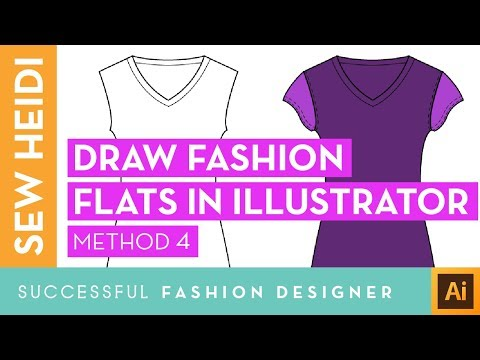 Draw Fashion Sketches Aka Flats In Illustrator Courses Free Tutorials On Adobe Illustrator Tech Packs Freelancing For Fashion Designers