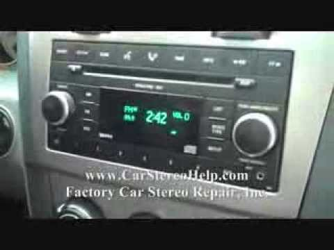 Car radio with cd player and aux