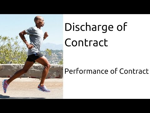 What is Discharge of Contract | Performance of Contract | Indian Contract | CA CPT | CS & CMA