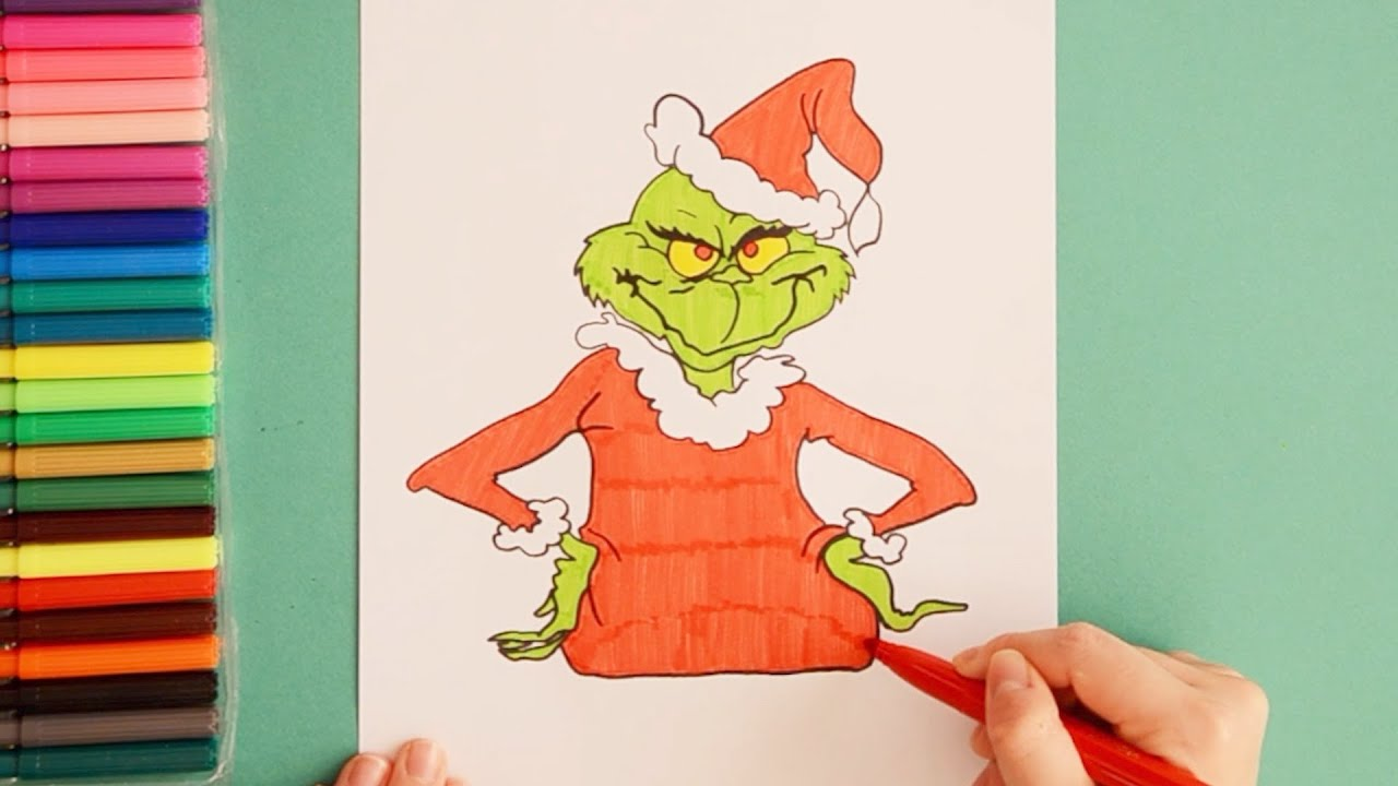 How to draw The Grinch (The Grinch that Stole Christmas ...