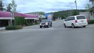 Driving in Quesnel BC (British Columbia) Canada - Cariboo District - Drive in Town