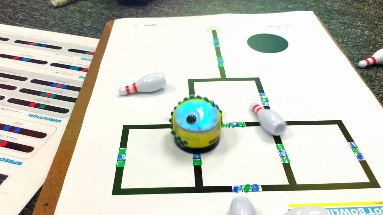 graphic relating to Ozobot Printable called Ozobot Bowling Situation