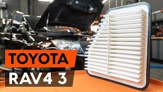Como mudar Filtro de Ar TOYOTA RAV 4 III (ACA3_, ACE_, ALA3_, GSA3_, ZSA3_) - tutoriais