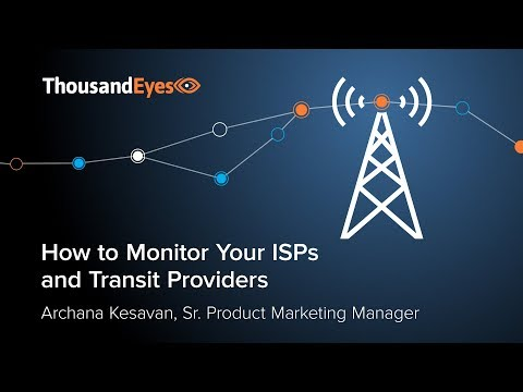 How To Monitor ISPs And Transit Providers