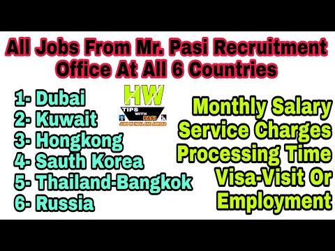 All Abroad Jobs of, Hongkong, Bangkok,Dubai, Kuwait, Russia Or Sauth Korea Countries - 2018 Jobs