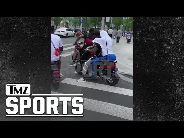 James Harden Ticketed on his Scooter in Shanghai | TMZ Sports