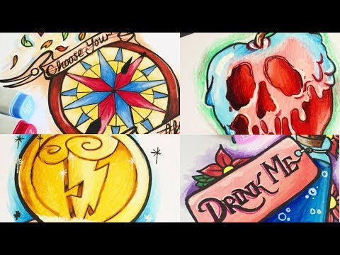 Drawing Disney; Flash Sheet/ Tattoo Designs