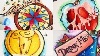 Drawing Disney; Flash Sheet/ Tattoo Designs