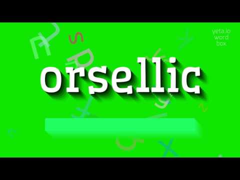 """How to say """"orsellic""""! (High Quality Voices)"""