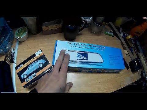 Установка Автомобильного зеркало с Монитором и Камеру заднего вида с из Китая с TinyDeal.com. Обзор