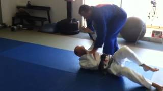 Telles positional control drill for side control top — Telles shows a counter to a crossbody escape