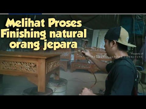 Cara Finishing Natural Melamine Kursi Jepara ,Mudah
