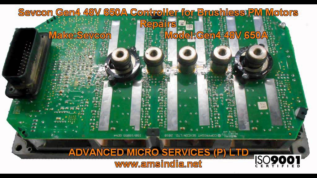 Sevcon Gen4 48V 650A Controller for Brushless PM Motors Repairs @ Advanced  Micro Services Pvt Ltd
