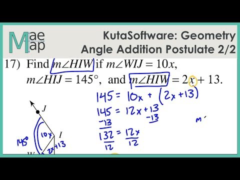KutaSoftware: Geometry- Angle Addition Postulate Part 2
