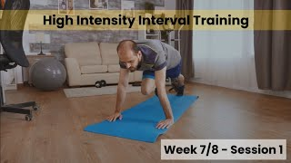 HIIT - Week 7&8 Session 1