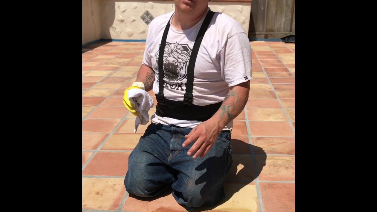 Topical Sealer Fail On Saltillo Tiles Water Marks