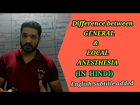 Difference between General & Local anesthesia