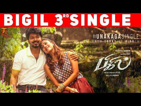 bigil-third-single-countdown-begins- -unakaga-song- -vijay- -nayanthara- -atlee- -ar-rahman