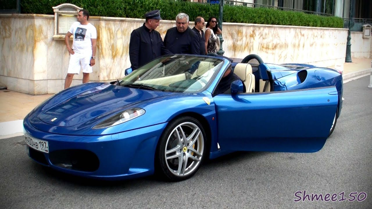 Gorgeous Blue Ferrari F430 Spider Combos With 599 Gto Ff 612 California 575 Youtube