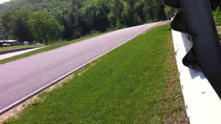 Close Uphill Action at Lime Rock