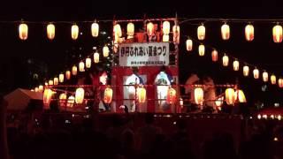 田中星児さん伊丹ふれあい夏まつり2016盆踊りビューティフルサンデー1...