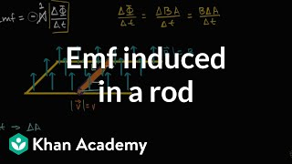 Emf Induced In Rod Traveling Through Magnetic Field