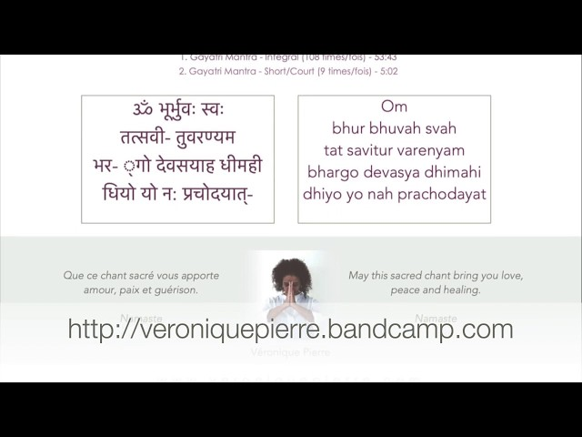 Gayatri Mantra by Veronique Pierre   Promo