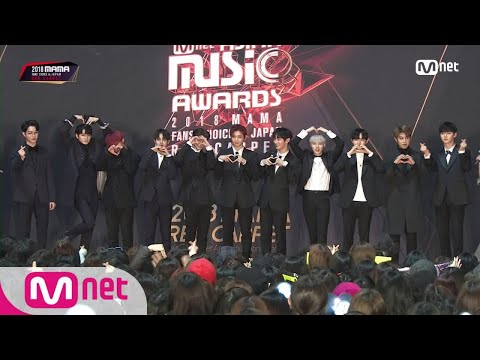 Red Carpet With Wanna One│2018 MAMA FANS' CHOICE In JAPAN 181212