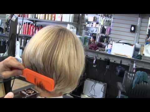 Sexy Blonde Womens bob clipper haircut  Part 2  YouTube