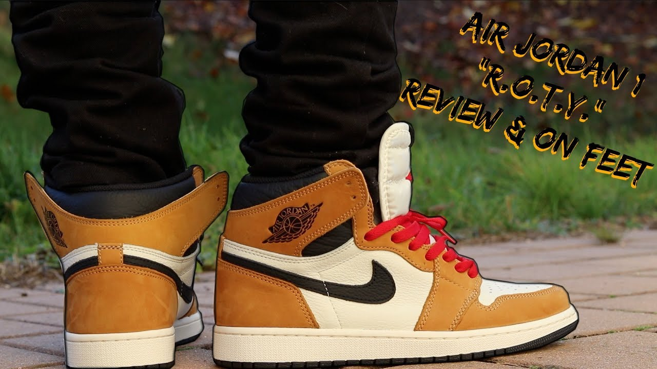 98b21440e37e3f AIR JORDAN 1 ROOKIE OF THE YEAR REVIEW w  ON FOOT! - YouTube