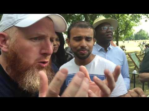 Br. Hamza DESTROYS EMOTIONAL Atheist || Speakers Corner 2016 || Hyde Park