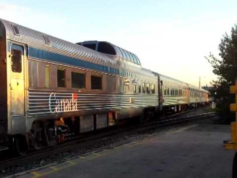 Via Rail Canadian arriving in Edmonton.