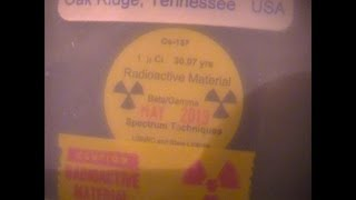 Cesium 137 Radioactive Source Standard + Mazur PRM 9000 Part 1