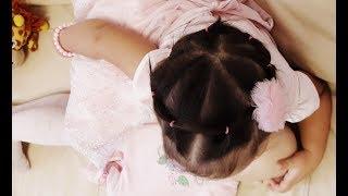 Прическа для тонких и коротких волос разной длины.Прическа корзинка из резинок для девочек.