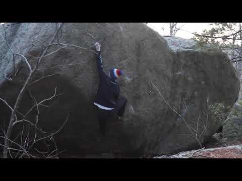 Lynn Woods Bouldering - Buttermilker Low (V10)