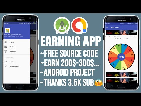 Spin Earning App Source Code // FREE Android Studio Source