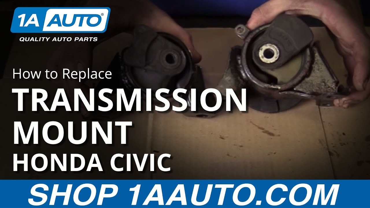 hight resolution of how to replace install transmission mount 2001 05 honda civic
