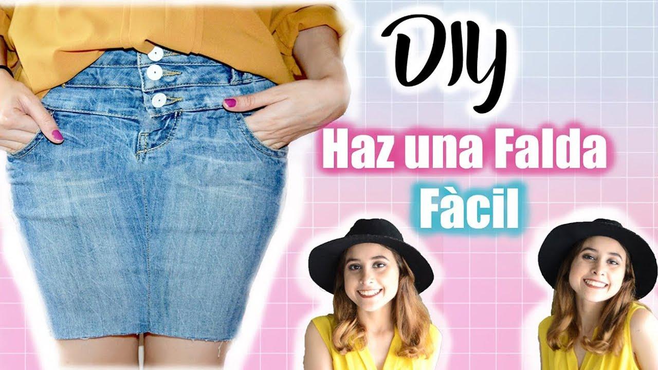 dccf38443 DIY: Como Convertir un Pantalón en Falda (Fácil) /¿Como hacer una falda? |  Carmen Moncada