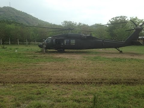 Blackhawk Ride Over Guatemala