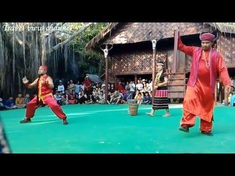 Cambodian Travel | Cultural Village | Khmer ethnic minority Dance at Siem Reap Angkor #1