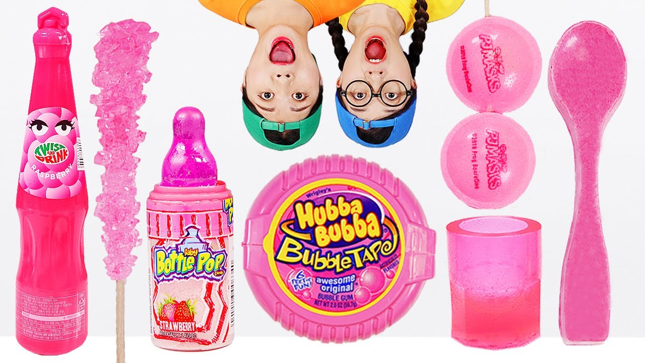Download Pink Food Chocolate Spoon Jelly Mukbang DONA