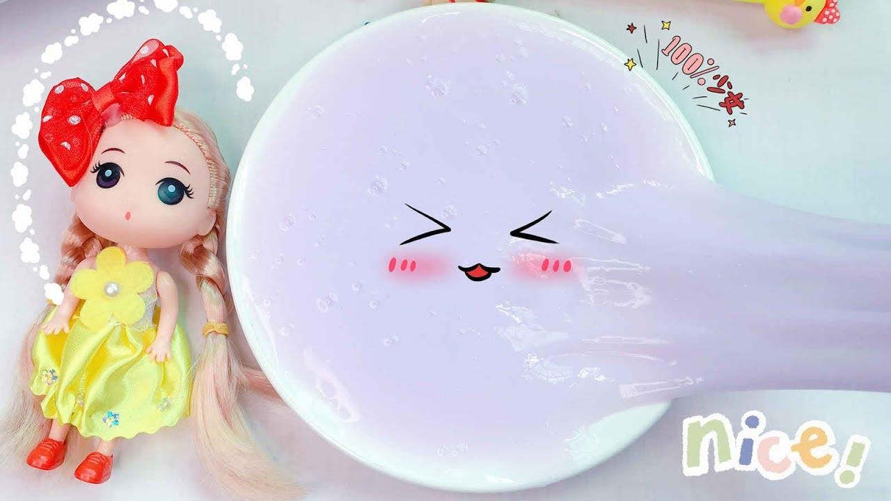 """【花甜手作】連""""熊爪""""都不會被粘,無硼砂果凍水彈泥史萊姆,怎麼做出來的? - YouTube"""