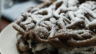 How To Make Cookies And Cream Funnel Cake Sandwiches  Tasty