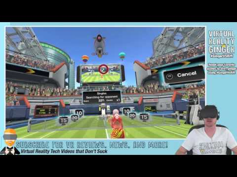 #GingerVsRift Hour 17/30 - VR Tennis Online Streaming - Virtual Reality Ginger