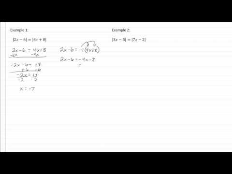 13.3c Absolute Value Equations - Dual Absolute Values