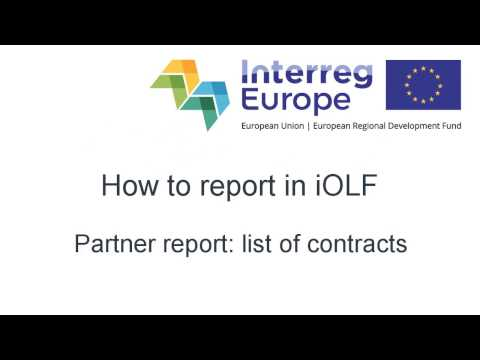 Partner reporting: List of contracts