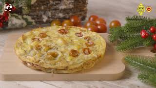 Tortilla de patatas a la italiana con Grana Padano